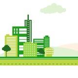 Grön stad Royaltyfria Bilder