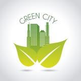 Grön stad Royaltyfri Fotografi