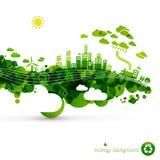 grön town för eco Royaltyfri Bild