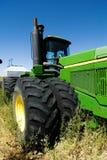 grön traktor Royaltyfri Foto
