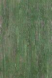 Grön träbrädebakgrund Arkivfoto