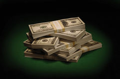 gröna dollarsedlar Royaltyfri Foto