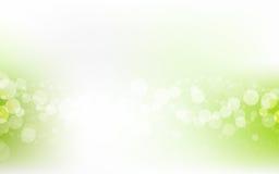Gröna mjuka pastellfärgade Bokeh Pale White Abstract Background Arkivfoto