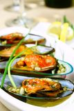 gröna musslor Arkivfoton