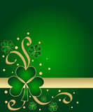 gröna shamrocks Arkivfoto