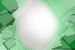 grönaktiga fyrkanter, abstrakt bakgrund Royaltyfri Fotografi