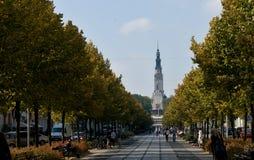 Gränd i Czestochowa Arkivfoto