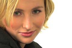 Grüne Augen #4 der blonden Frau Stockfotografie