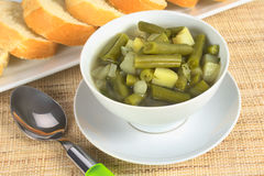 Grüne Bohne und Kartoffel Hotpot Stockbilder