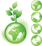 Grüne Erde Simbol Lizenzfreies Stockfoto