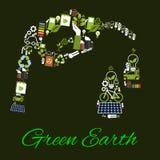 Grüne Erdklimabiotreibstoffvektorplakat Stockbilder