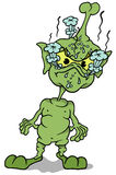 Grüne Extraterrestrial-Stellung Stockfotografie