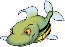 Grüne gestreifte stillstehende Fische Lizenzfreie Stockbilder