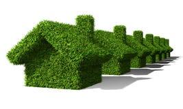 Grüne Häuser Stockbild