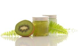 Grüne Kosmetik Lizenzfreie Stockfotos