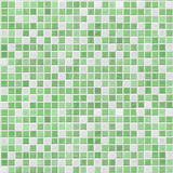 Grüne Mosaikfliesenwand Stockfotografie