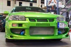 Grüne Nissan-Skyline Lizenzfreie Stockfotos