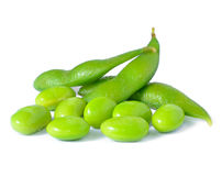 Grüne Soyabohnen Stockfotografie