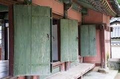 Grüne Türen, Südkorea Lizenzfreies Stockbild