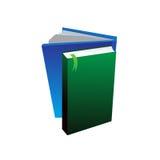 Grüne und blaue Bücher für Schule Lizenzfreies Stockfoto
