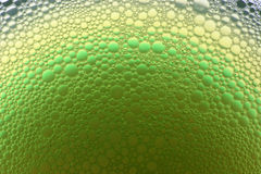Grüne und gelbe Luftblasen Stockfotografie