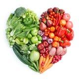 Grüne und rote gesunde Nahrung Lizenzfreies Stockfoto