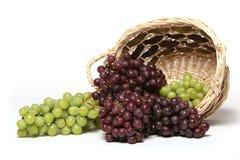 Grüne und rote Trauben Stockbild
