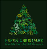 Grüne Weihnachtskarte Stockfoto