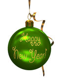 Grüne Weihnachtskugel Lizenzfreies Stockfoto