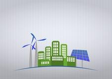 Grünen Sie Stadt Lizenzfreie Stockfotos