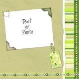 Grüner Einklebebuchplan Stockbild