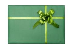 Grüner Geschenkkasten Lizenzfreies Stockfoto