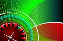 Grüner Hintergrund mit Rouletten Lizenzfreie Stockbilder