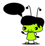 Grüner Junge Stockfoto