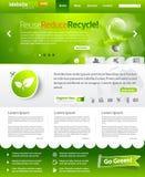 Grüner Ökologieweb-Schablonenplan Lizenzfreie Stockfotografie