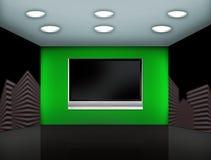 Grüner Mediaraum Stockfotografie