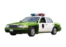 Grüner Polizeiwagen Lizenzfreies Stockfoto