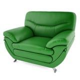 grüner Stuhl 3D auf einem weißen Hintergrund Lizenzfreie Stockbilder