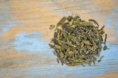 Grüner Tee ungehefteten Dragonwell Longjing Stockfotografie