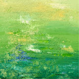 Grünes Acryl oder Öl gemalter Hintergrund Abstrakter Hintergrund Auch im corel abgehobenen Betrag Stockfoto