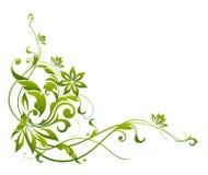 Grünes Blumen- und Rebemuster Lizenzfreie Stockfotografie