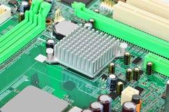 Grünes Computermotherboard Stockfotografie
