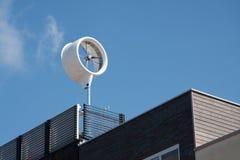 Grünes Energiehaus Stockfoto