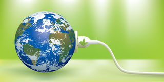 Grünes Energiekonzept Stockbild