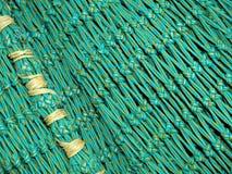 Grünes Fischernetz Stockfotografie