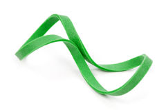 Grünes Gummiband Lizenzfreie Stockfotos
