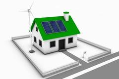 Grünes Haus für Verkauf Lizenzfreie Stockfotos