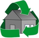 Grünes Haus-Ikone Lizenzfreies Stockfoto