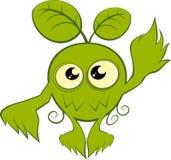 Grünes Karikaturnaturmonster Stockbild