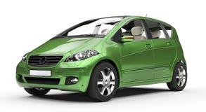 Grünes kompaktes Auto Lizenzfreies Stockfoto